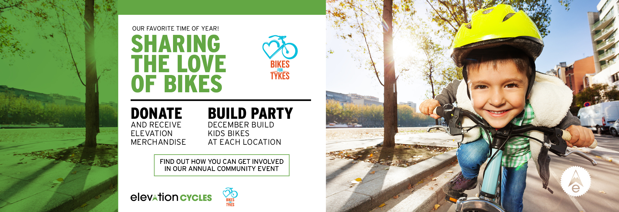 Elevation Cycles Colorado Share the Love of Bikes Fundraiser
