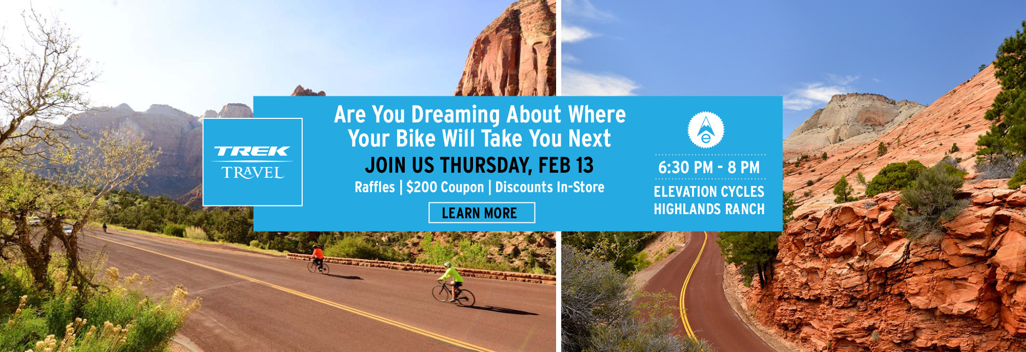 Trek Travel Night at Elevation Cycles Highlands Ranch February 13, 2020