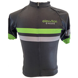 Elevation Cycles Custom M BLK STRIPE CUSTOM ELEVATION JERSEY SEMI-FITTED