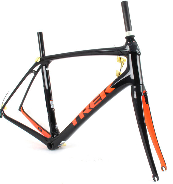 Trek 2019 Trek Domane SLR Rim Brake Frame // 58cm Black/Orange
