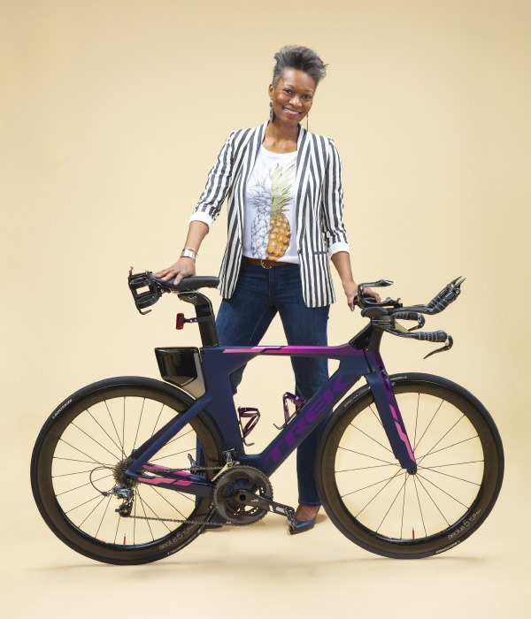 woman with a trek bike