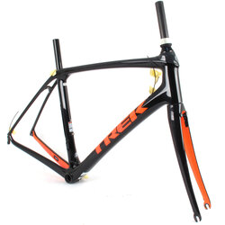 Trek 2019 Trek Domane SLR Rim Brake Frame // 58cm Black/Orange