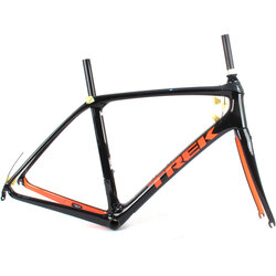 Trek 2019 Domane SLR Rim Brake Frame // 56cm Black/Orange