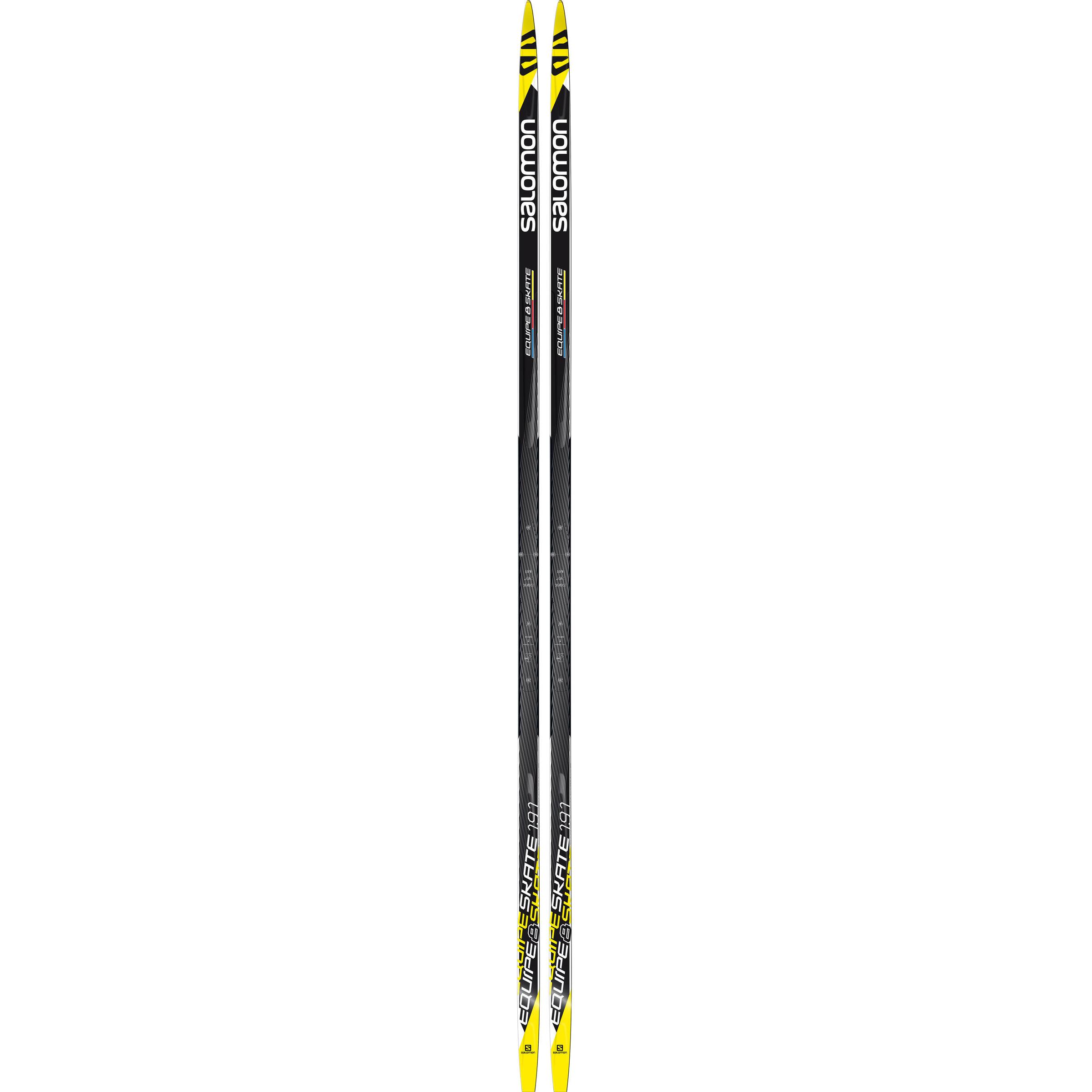 NEW SALOMON EQUIPE 8 SKATING SKATE cross country SKIS 191cm 186cm