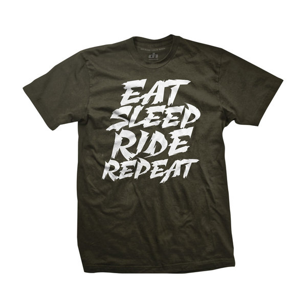DH Wear DH Wear Eat Sleep Ride Repeat Tee Color: Green