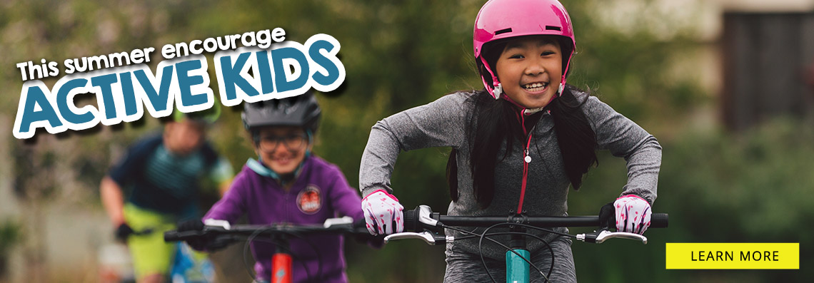 Encourage active kids with cycling this summer