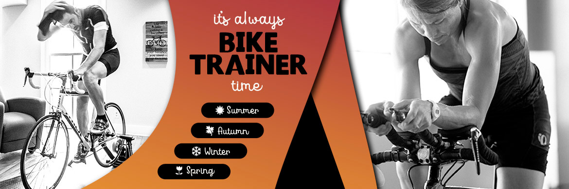 It's always bike trainer time