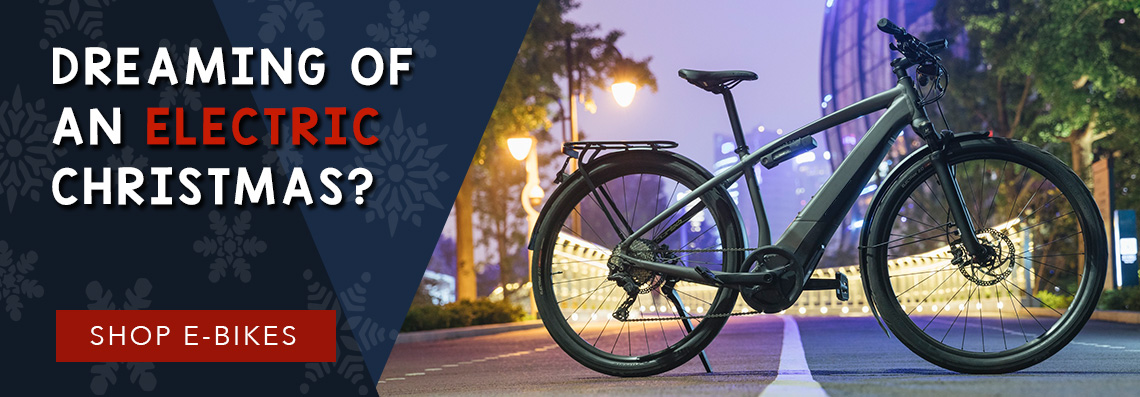 Shop E-Bikes for the holidays at B&L Bike Shop!