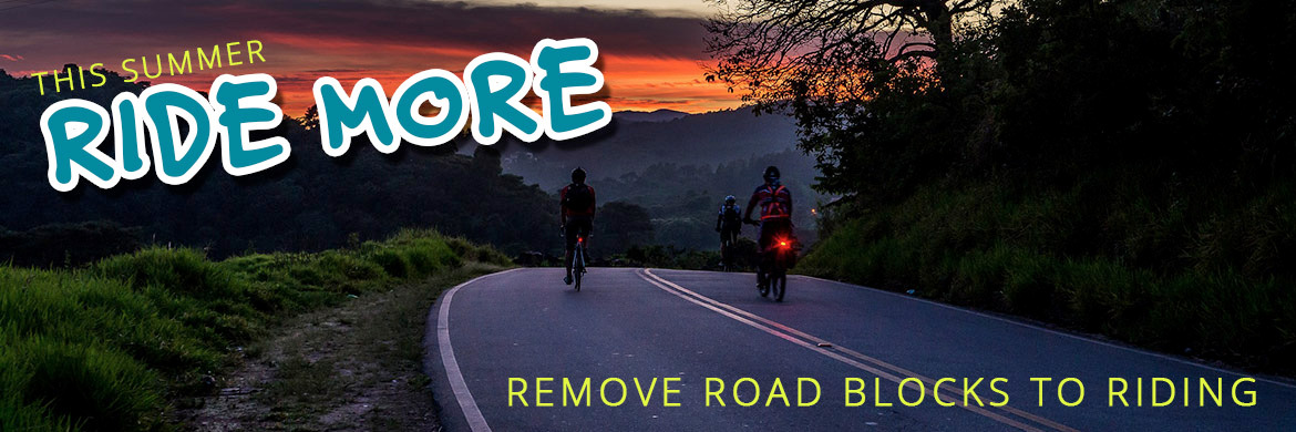 Ride more - Remove Cycling Road Blocks