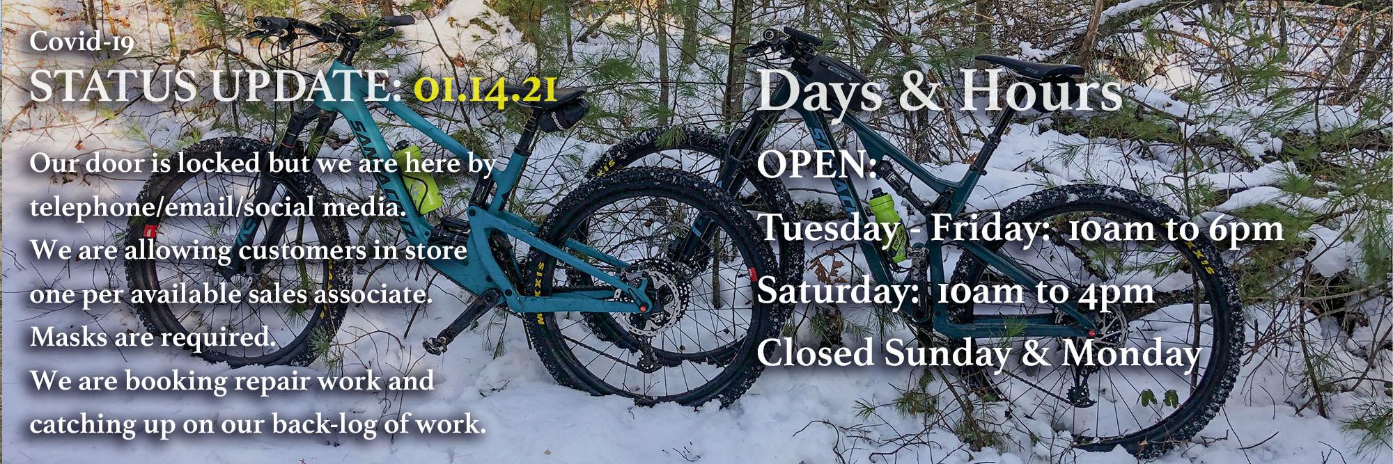 Updated Bikeworks Hours