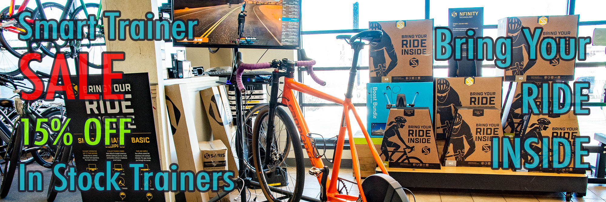 Ride Inside Smart Trainer Sale 15 Percent Off In Stock Trainers