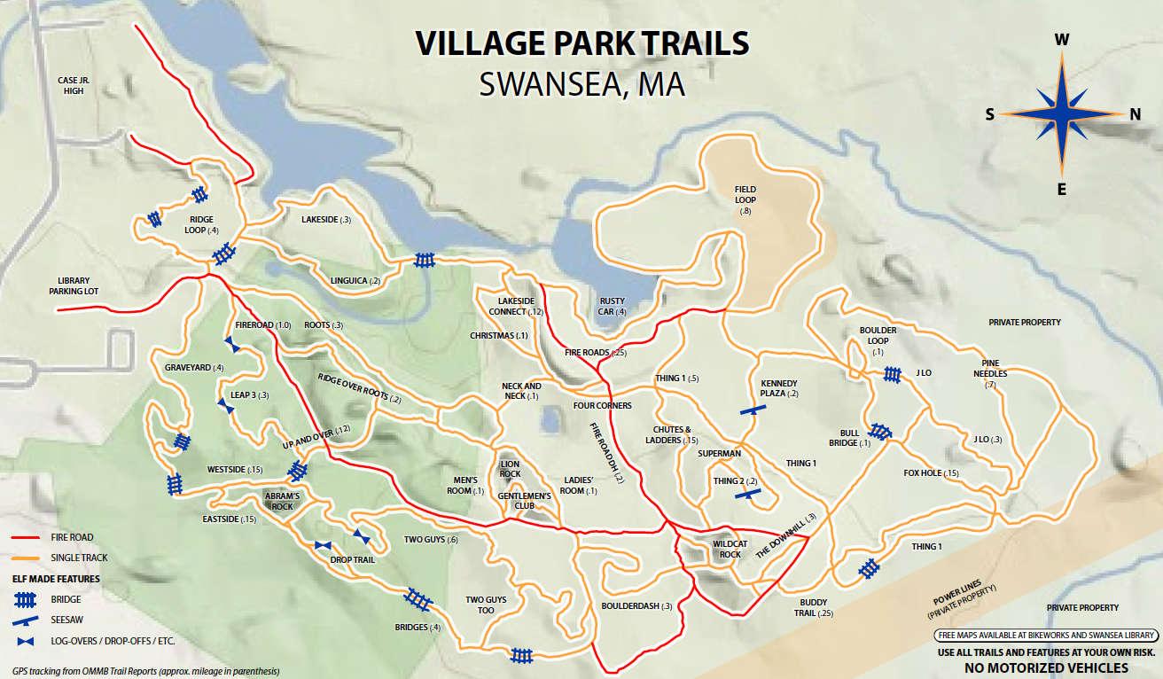 Village Park MTB Trails Swansea, Mass BikeWorks
