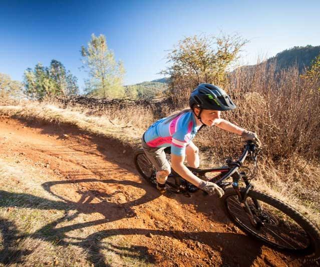 Victory Velo team member mountain biking