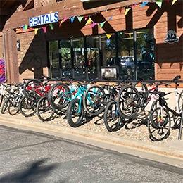 The Hub rents bikes!