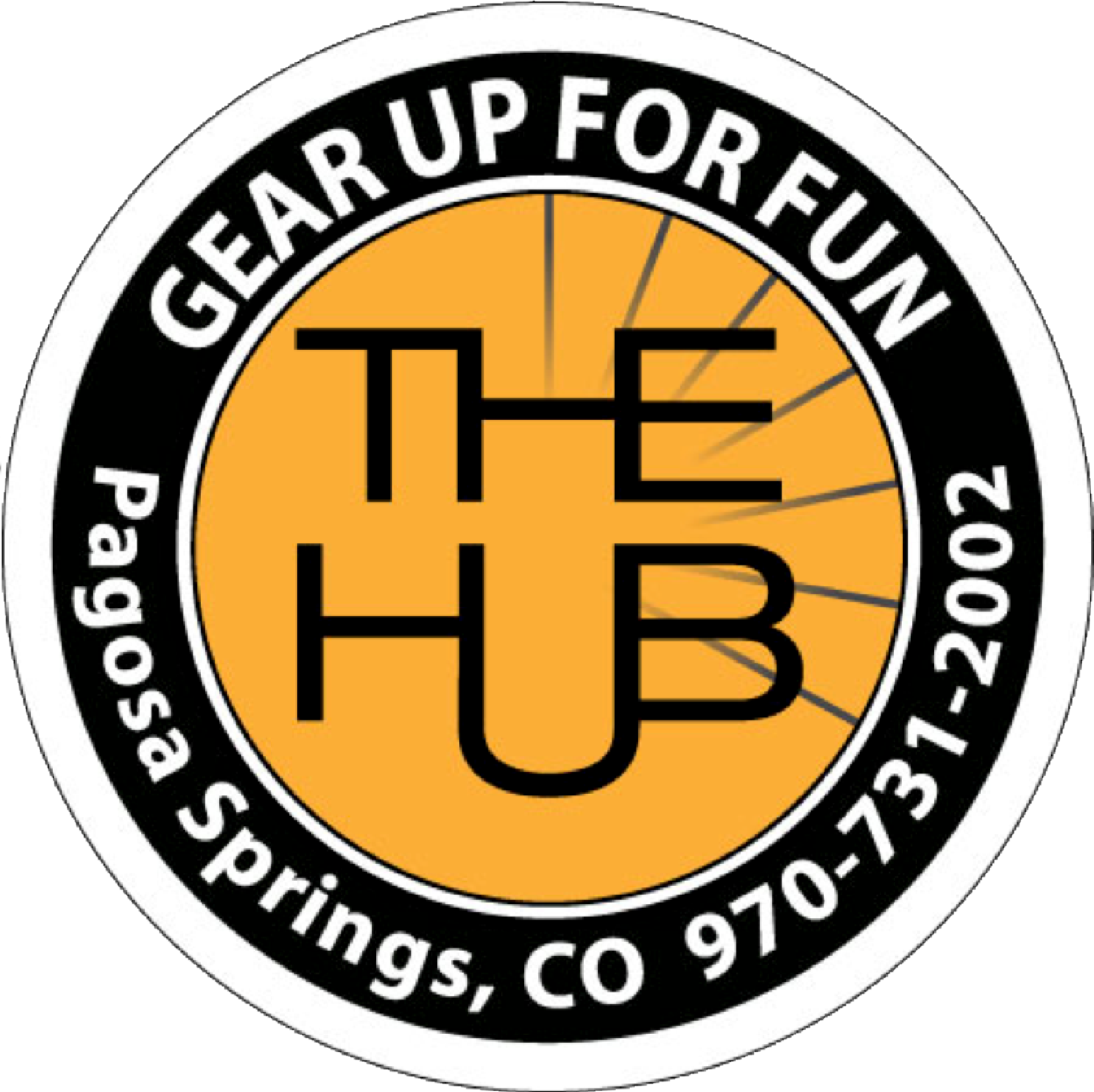 The HUB: Gear Up For Fun! Pagosa Springs Colorado Logo