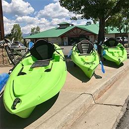 The Hub rents kayaks!
