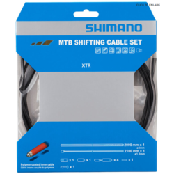 Shimano XTR SP41 Polymer Coated Shift Cable Set, Black, Rear Derailleur Only