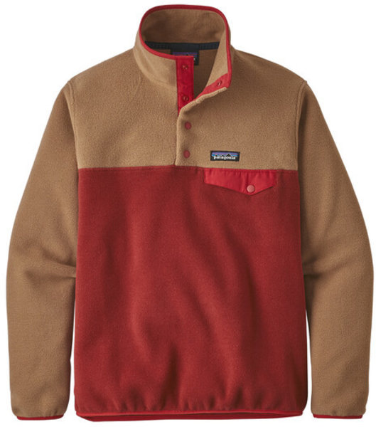 Patagonia Synch Snap T Pull Over Color: Molten Lava