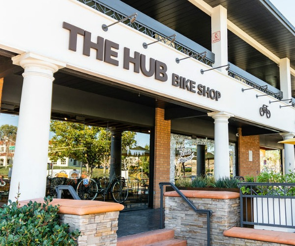 A photo of The Hub Bike Shop's storefront