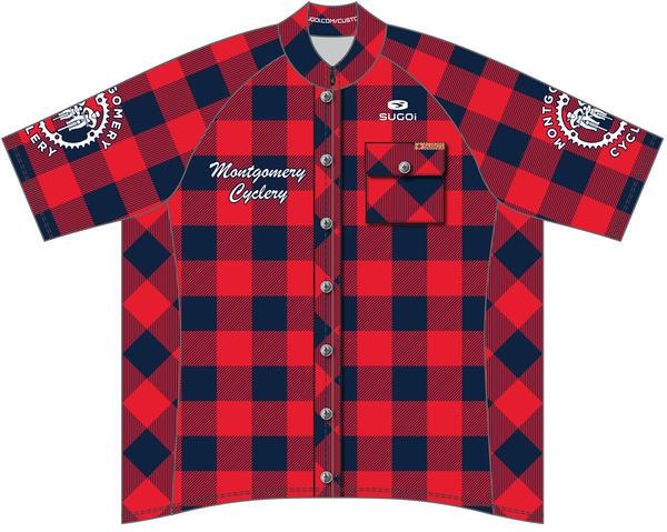 Montgomery Cyclery & Fitness MC Logo Men's Evo Jersey- Red