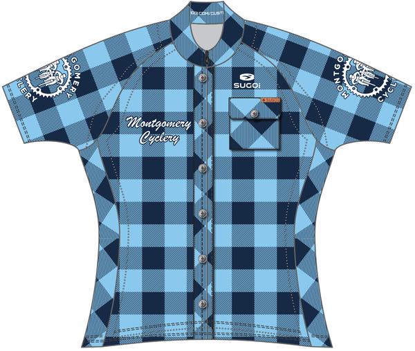 Montgomery Cyclery & Fitness MC Logo Women's Evo Jersey- Blue