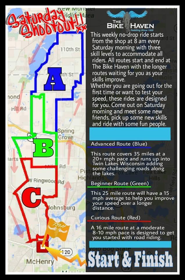 Saturday Shootout ride details