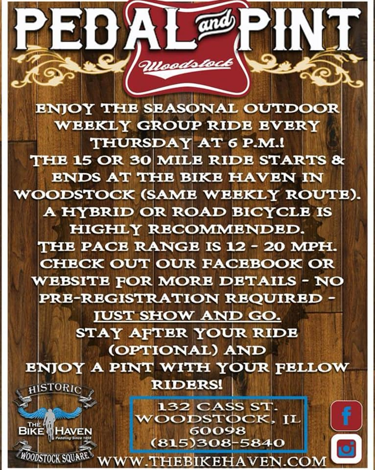 Pedal and Pint ride details