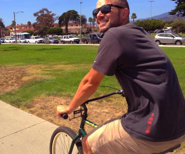 David on a bike