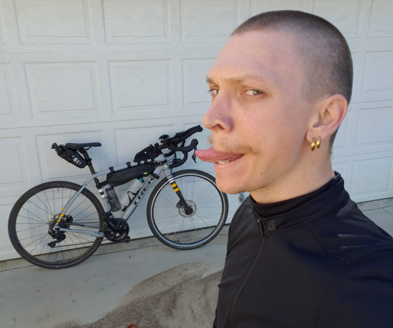 Garth and his bike