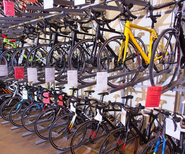 Many bikes in store