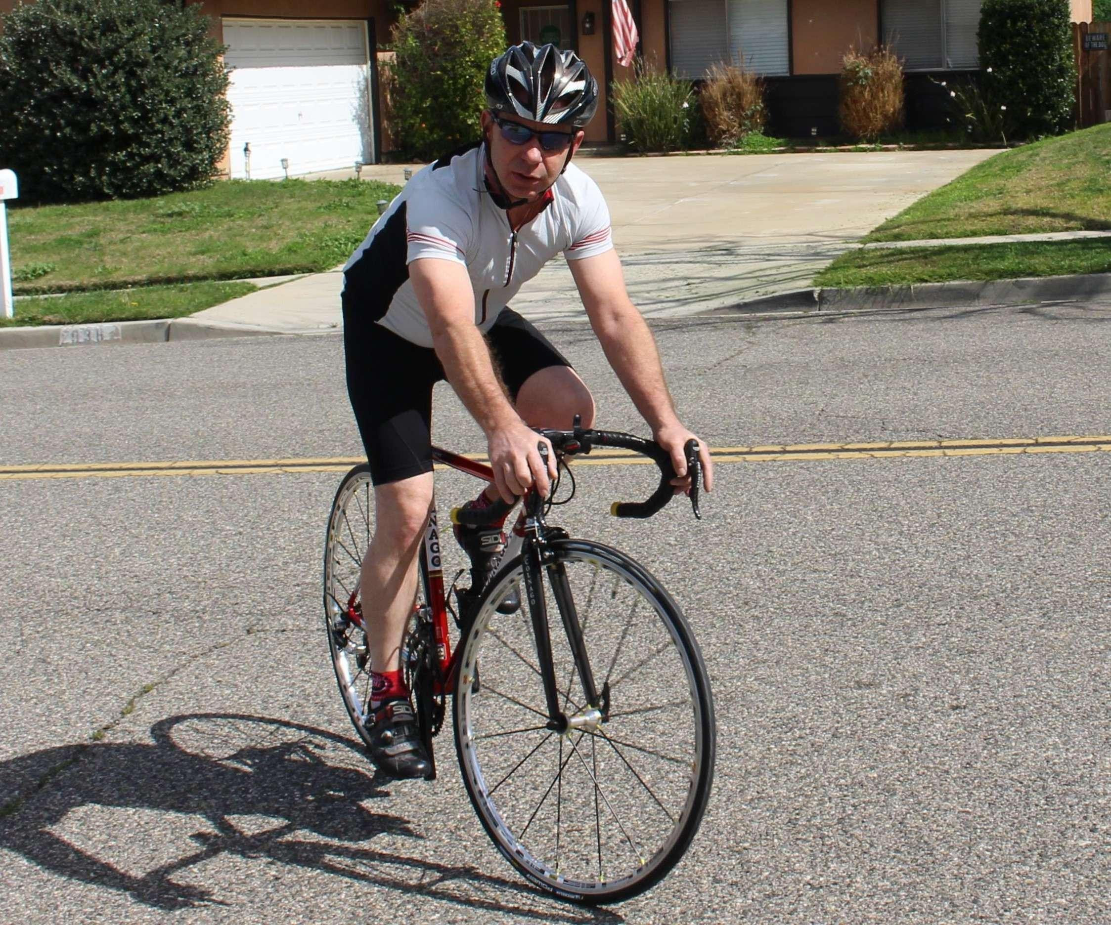 Bob on his bike