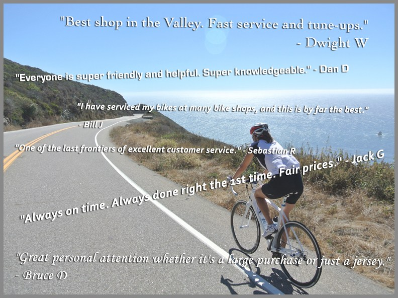 Testimonials for Santa Monica Mountains Cyclery