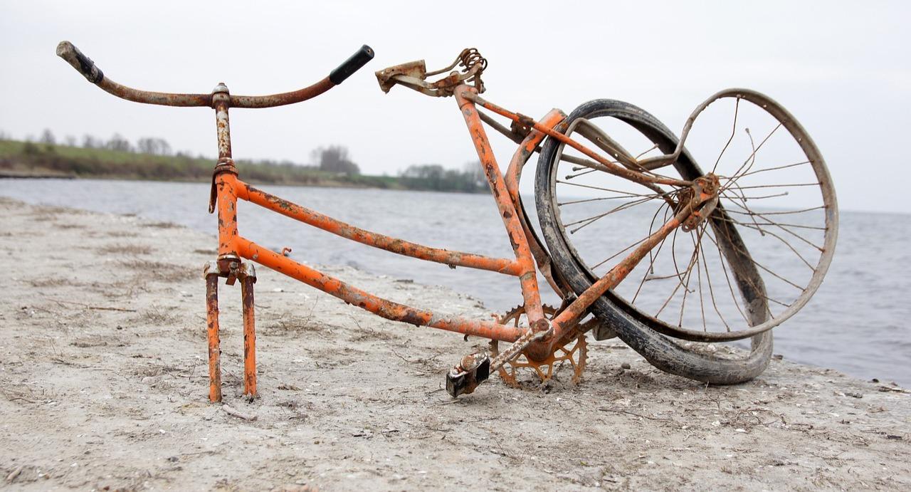 A very broken bicycle!