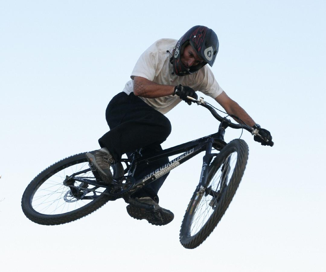 Robert catching air