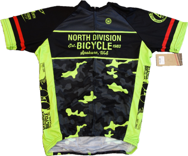 North Division Bicycle JERSEY NDB CLASSIC CLUB BLK/HI VIS CAMO SM-XXL