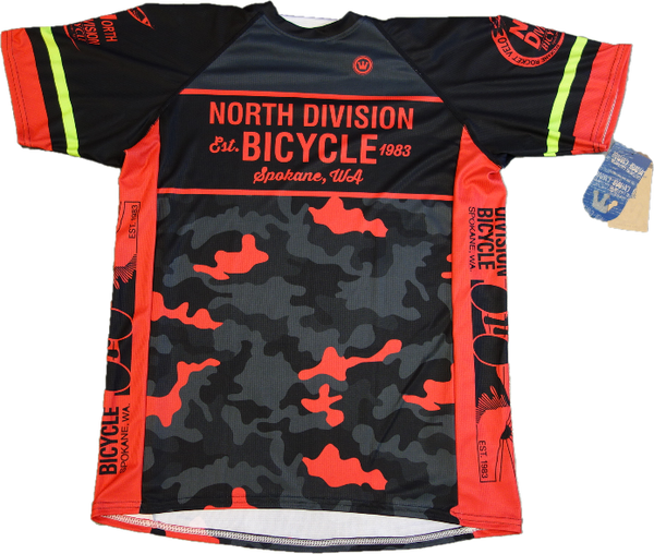 North Division Bicycle JERSEY NDB TECH TEE BLK/RD CAMO