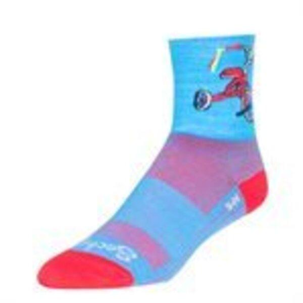SockGuy SockGuy Classic Trike Socks - 4 inch, Blue/Red