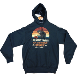 North Division Bicycle NDB HOODIE I DO WHAT I WANT PULLOVER BLACK