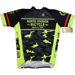 North Division Bicycle JERSEY NDB CLASSIC CLUB BLK/HI VIS CAMO SM-XXL