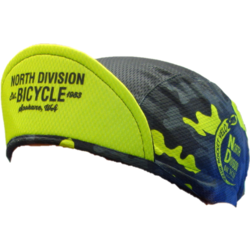 North Division Bicycle CYCLING HAT NDB BLK/HI VIS CAMO L/XL by Canari