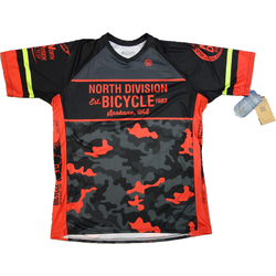North Division Bicycle JERSEY NDB ENDURO SS BLK/RD CAMO