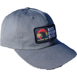 North Division Bicycle NDB Logo Baseball Caps. Unstructured, Trucker & Pre-curved Styles