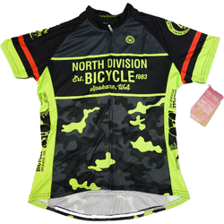 North Division Bicycle JERSEY NDB WOMEN CLASSIC CLUB CUT BLK/HI VIS