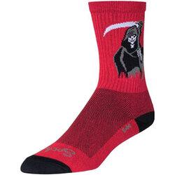 SockGuy SockGuy Crew Reaper Socks - 6 inch, Red/Black, Small/Medium