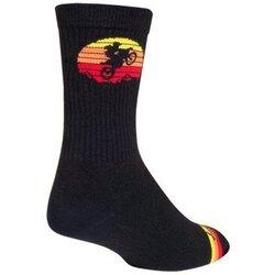SockGuy SockGuy Moto Crew Socks - 6 inch, Black/Multi