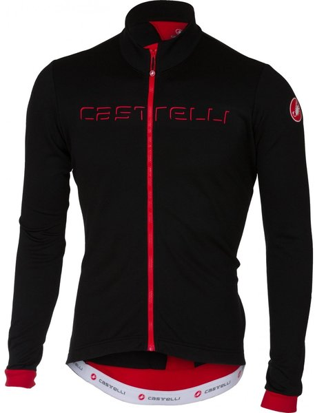 Castelli Fondo Jersey FZ Color: Black/Red