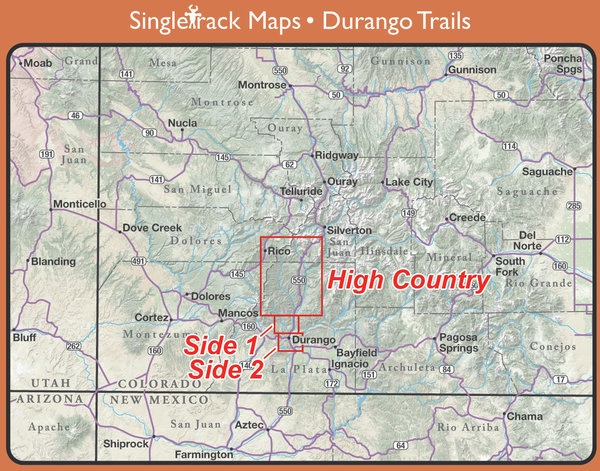 Singletrack Solutions Colorado Trailmaps - Multiple Locations