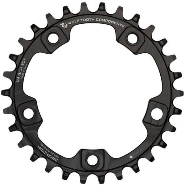 Wolf Tooth Components Drop Stop Chainring 28T 94 BCD 5-Bolt