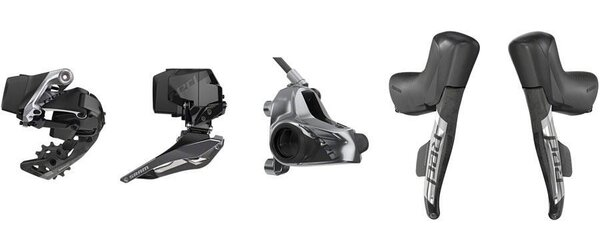 SRAM RED eTap AXS Electronic Road Groupset - 2x12-Speed, HRD Brake/Shift Levers, Flat Mount Calipers, Front/Rear