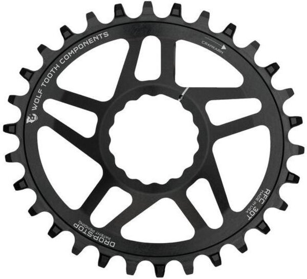 Wolf Tooth Components PowerTrac Elliptical Direct Mount Drop Stop Chainring for Race Face Cinch Boost Chainline